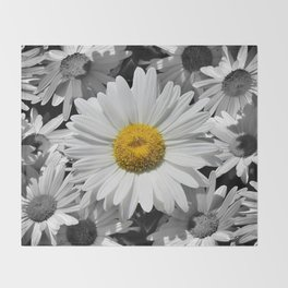 Cheerful Daisy Flower A197 Throw Blanket