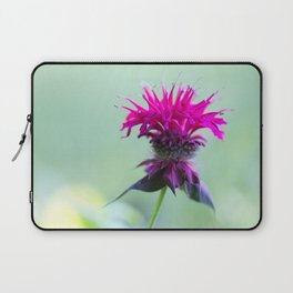 Pink Bee Balm Flower 2 Laptop Sleeve