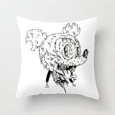 Zombie Mickey Throw Pillow