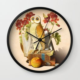 Apprentice Owl Wall Clock