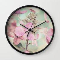 blush Wall Clocks featuring Blush  by Laura Ruth
