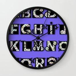 MODERN ALPHABET Wall Clock