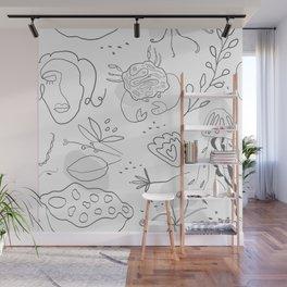 sea life line art Wall Mural