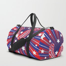 Blue red and white bald eagle with stars Duffle Bag