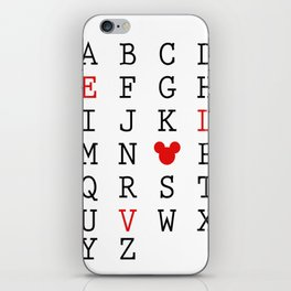 Mickey Love iPhone Skin