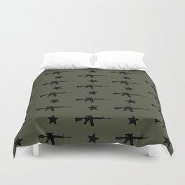 M4 Assault Rifle Pattern Duvet Cover