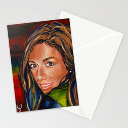Carly My Baby Girl Strong Beautiful Woman Daughter Female Jackie Carpenter Stationery Cards