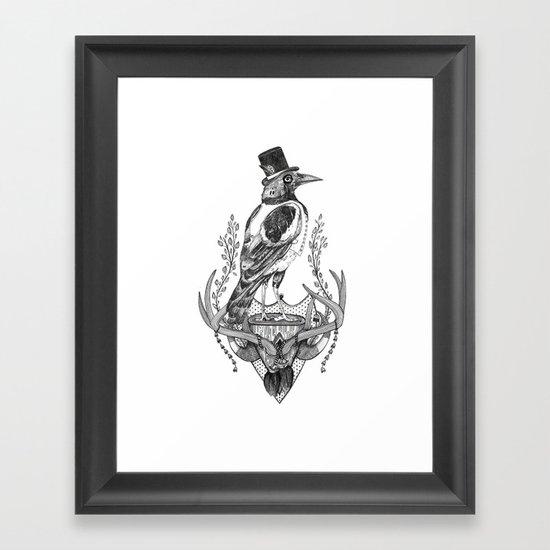 Mr. Magpie Framed Art Print