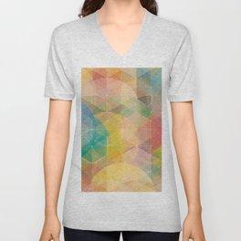 Color Pattern Unisex V-Neck