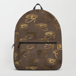 Brown & Gold Eye Of Horus Backpack