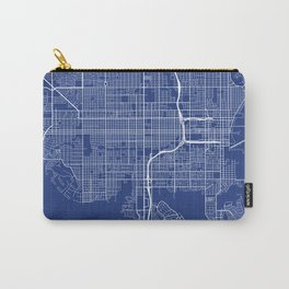 St Petersburg Map, USA - Blue Carry-All Pouch