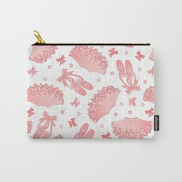 Pink Ballet Pattern Carry-All Pouch