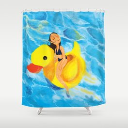 Pool Queen Shower Curtain