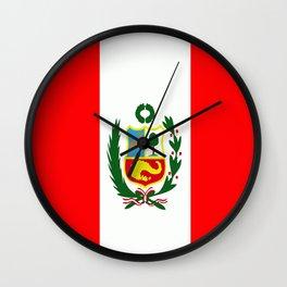 Flag of Peru Wall Clock