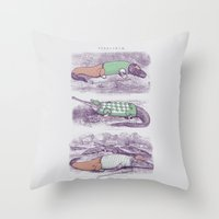 golf Throw Pillows featuring Golf Buddies by Jacques Maes