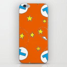 metro pattern orange iPhone Skin