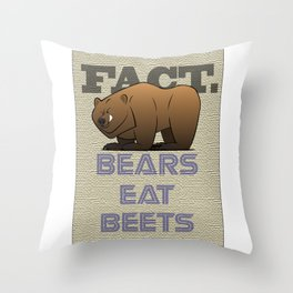 Bears Eat Beets Throw Pillow