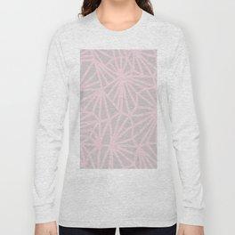 Handmade minimal geometric pattern - Pink & Taupe #decor Long Sleeve T-shirt