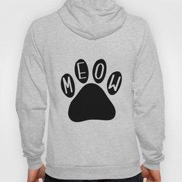 Meow Cat Paw Hoody
