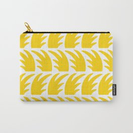 Tropical Wave Pattern Yellow Carry-All Pouch