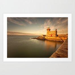 Howth Harbour Lighthouse Art Print