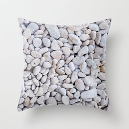 Background from gray sea stones for design Throw Pillow