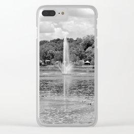 Fountain Lake Clear iPhone Case