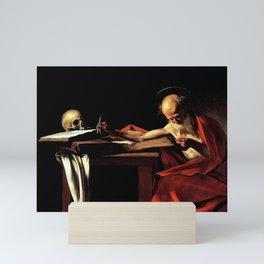 Michelangelo Merisi da Caravaggio - Saint Jerome Writing Mini Art Print