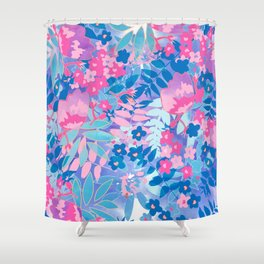Pastel Watercolor Flowers Shower Curtain