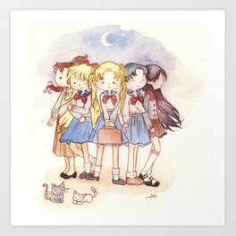 School Sailors Art Print