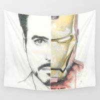 ironman Wall Tapestries featuring Ironman by Dave Seedhouse.com