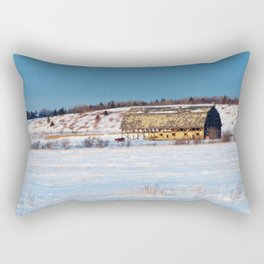 Barn gets a little glow from the Sun as it sits, waiting to be torn apart. Rectangular Pillow