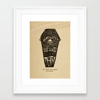 lyrics Framed Art Prints featuring Lyrics & Type by Jon Contino