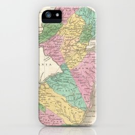 Vintage Map of New Jersey (1827) iPhone Case
