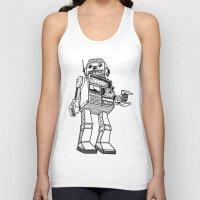 robot Tank Tops featuring Robot. by Scott Mckenzie-Lee
