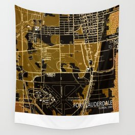 Fort Lauderdale 1949, us map, antique maps Wall Tapestry