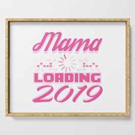 Baby Is Loading Boy Girl For Mom Announcement Gift Serving Tray