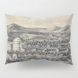 1856 engraving of the Virginia university Pillow Sham