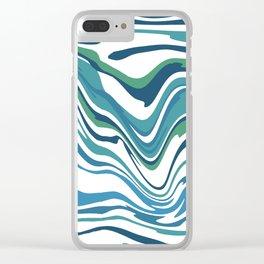 Stripe warped Clear iPhone Case