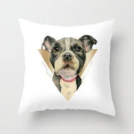 Puppy Eyes 4 Throw Pillow