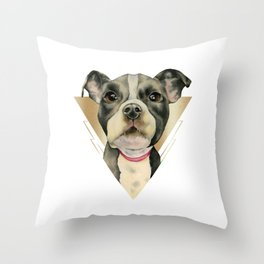 Puppy Eyes 4 Throw Pillow