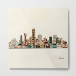 dallas skyline Metal Print