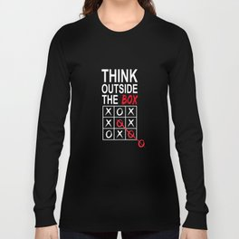 Think Outside the Box Funny Graphic T-shirt Long Sleeve T-shirt
