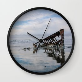 Fort Stevens State Park, Oregon // Peter Iredale Shipwreck Wall Clock