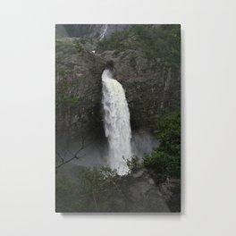 Fossefall i Frafjord Metal Print