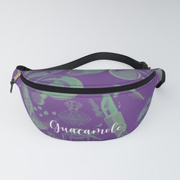 FASHION STYLE PURPLE AND GREEN Fanny Pack