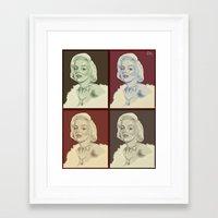 marylin monroe Framed Art Prints featuring Marylin Monroe by Soulfullyrics Art Cilla