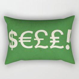 Subliminal Currency Rectangular Pillow