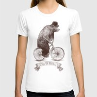bears T-shirts featuring Bears on Bicycles by Eric Fan