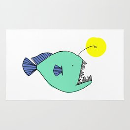 Deep Sea Anglerfish Rug